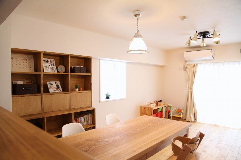 マンション/リノベーション/神奈川県横浜市/木と塗り壁と。自然素材に囲まれたシンプルナチュラルな空間